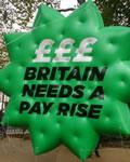 90.000 gegen Lohndiktat in London