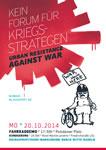 20. Oktober 2014 in Berlin: Antimilitaristische Fahrraddemo und Kundgebung gegen Kriegskonferenz