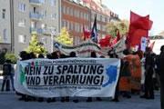 NBG: Antikapitalistischer Block auf der Demo des Nürnberger Sozialforums