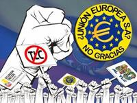 Campaña No al TLC Ecuador con Unión Europea