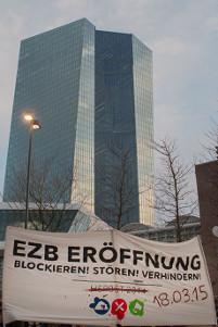 Blockupy 2015: EZB-Eröffnung