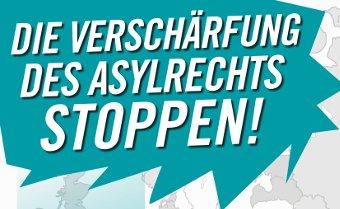 Demonstration: Verschärfung des Asylrechts stoppen
