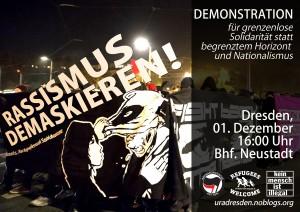 Rassismus demaskieren! Demo gegen Pegida