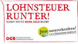 Kampagne Lohnsteuer runter! des ÖGB