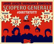Grande adesione allo sciopero, enorme e pacifica manifestazione: il Governo non ha il consenso di chi lavora