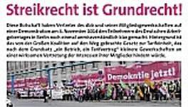 Solidarität mit dem Streik der GDL
