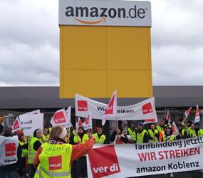 Bilder vom Streik bei Amazon am 17.12. in Koblenz von Ursel Beck