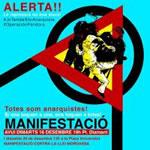 Spanische Polizei auf Anarchistenjagd