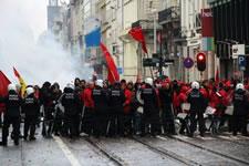 la grève générale en Belgique am 15. Dezember 2014