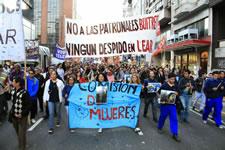 Kundgebung vor den Toren des Unternehmens Lear am Freitag, 19. Dezember 2014
