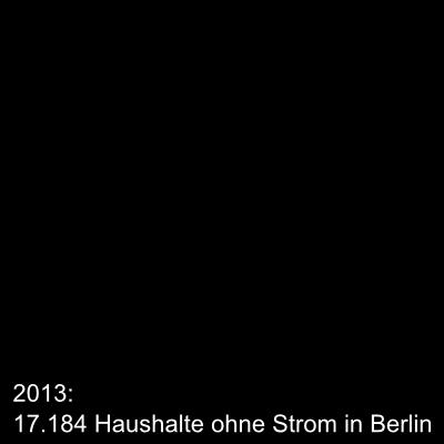 Haushalte ohne Strom in Berlin