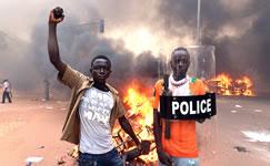 Soziale Proteste in Burkina erstarken nach dem Sturz Compaores