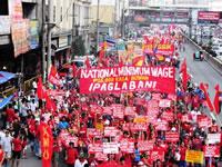 Auch auf den Philippinen: Kampf um Mindestlohn