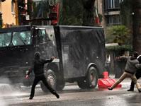 Protest gegen die Privatisierung der Stromversorgung Albaniens