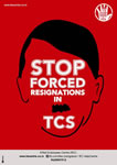 Indien: Protests against TCS Layoffs