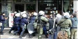 Streik gegen Sonntagsarbeit in Griechenland: Polizeiknüppel gegen Gewerkschafter