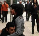 Am Samstag, 24. Januar wurde Shaimaa al-Sabbagh, Mitglied der Socialist Popular Alliance Party in Kairo durch einen Schuss ins Gesicht von der Polizei ermordet - Aufnahme kurz nach dem Schuss