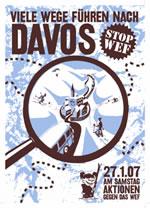 Protest gegen das Weltwirtschaftsforum in Davos 2007