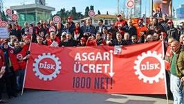 Kampf der DISK für einen Mindestlohn in der Türkei