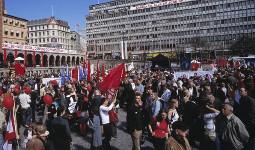 Landesweiter politischer Proteststreik aller norwegischen Gewerkschaften – gegen das neue Arbeitsgesetz