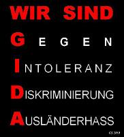 Wir sind GIDA: Gegen Intoleranz, Diskriminierung, Ausländerhass. Vorlage zur Verbreitung und antifaschistischer Nutzung