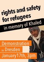 Nach dem Mord an Khaled: Rechte und Sicherheit für Flüchtlinge in Dresden