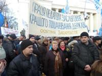 Bergleute und LehrerInnen – die am entschlossensten gegen den antisozialen Kurs der Kiewer Regierung sind