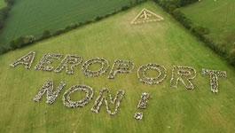 Protest gegen das Flughafenprojekt von Notre-Dame-des-Landes