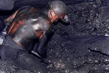 Polnische Bergarbeiter (blockieren Eisenbahn)
