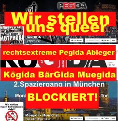 Wir stellen uns quer: Pegida-Ableger blockiert