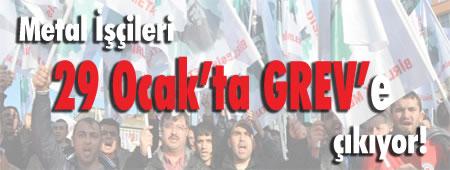 Ab dem 29. Januar 2015 hat die Gewerkschaft Birleşik Metal-İş (BMI) den Streik in der Metallindustrie der Türkei beschlossen