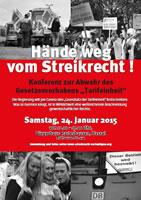"""Initiative """"Hände weg vom Streikrecht"""": Aktionskonferenz am 24. Januar in Kassel"""