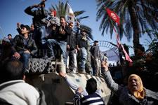 4. Jahrestag des Sturzes der Diktatur Ben Alis in Tunesien