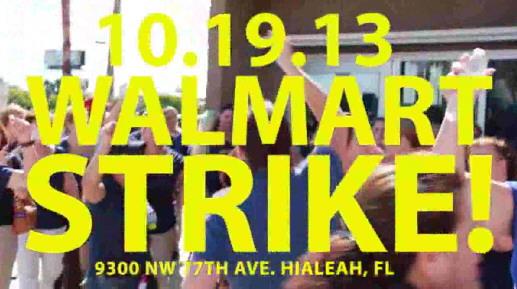 wilder Streik bei Walmart 2013
