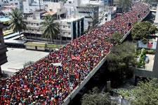 100.000 Frauen in Bangalore gegen Privatisierung der Kinderkrippen