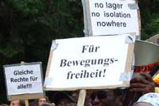 no lager - no isolation - für Bewegungsfreiheit
