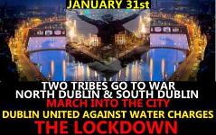 Erneut Zehntausende in irischen Städten gegen Wasserprivatisierung