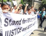 Sitzstreik der LehrerInnen in Manila
