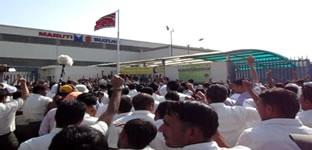 Demo der Betriebsgewerkschaft von Maruti-Suzuki