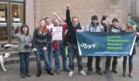 Erwerbslosenproteste in Schottland