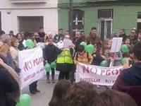 Soziale Fluten in Madrid: Zehntausende auf den Straßen