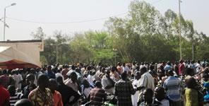 Ein Streik in Burkina Faso