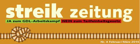 STREIKZEITUNG: JA zum GDL-Arbeitskampf – NEIN zum Tarifeinheitsgesetz - neues Logo