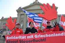 Rückenstärkung für Griechenland [aus der Schweiz]