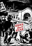 Plakat der US-Hafenarbeitergewerkschaft gegen Streikbrecher