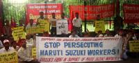demo der Marutiarbeiter in Indien