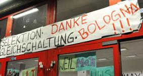 Protest gegen die Bologna-Reform