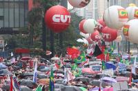 Pro-Dilma-Demo in Brasilien im März 2015