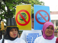 Wasserprotest in Djakarta