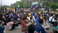 protest metro delhi